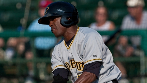 Starling Marte batted .319 with 47 runs scored at two stops in 2010.