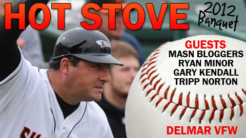 The Shorebirds Hot Stove Banquet is scheduled for January 28 at the Delmar VFW